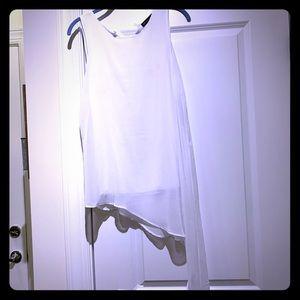 Asymmetrical sleeveless blouse